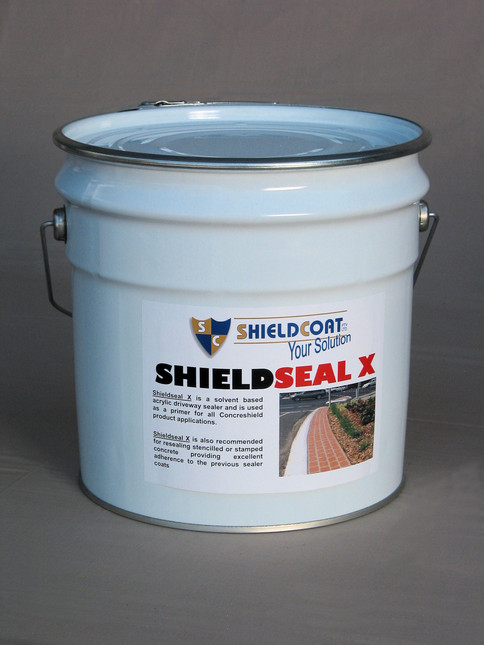 SHIELDSEAL X Solvent based clear concrete sealer and primer