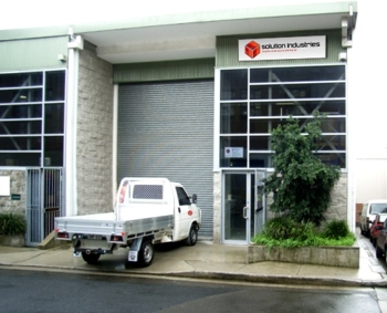 solution industries office front and truck
